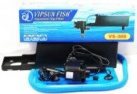 Vipsun Fish VS-388 - Bộ Máng và Máy Bơm Lọc Nước Hồ Cá - Có bông lọc